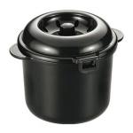 電子レンジ専用炊飯器 紀州備長炭配合 新ちびくろちゃん2合炊き