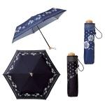 ローズドットボーダー晴雨兼用折りたたみ傘