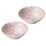 美濃焼 市松桜 小鉢二個組