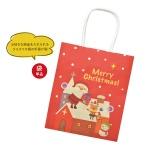 クリスマス柄紙袋