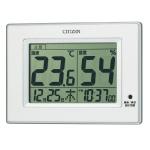 シチズン デジタル温度・湿度計(クロック付)