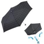 チェック柄・耐風折りたたみ傘