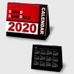 2020年カレンダー スタンドスケジュール