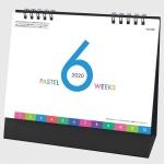 2020年カレンダー パステル6ウィークス