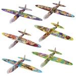 おもちゃのキャラクター組み立て飛行機1個