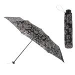 晴雨兼用モノトーン花柄折りたたみ傘